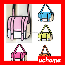 UCHOME wholesale 32 style,canvas gismo 3d cartoons bag camera bag one shoulder handbag general bags