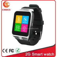 New low cost rubber smart watch mobile phone with camera and SIM card