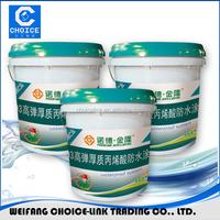 Exterior wall water based polyurethane waterproof bitumen coating