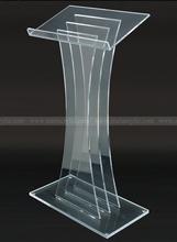 Acrylic Podium for Floor,Crystal clear acrylic plexiglass lectern