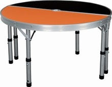 MDF & Alum. folding picnic table set Camping table Half round table