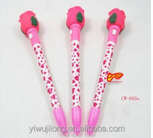 Hot fashion Tulips push light pen,flashlight ballpoint pen wholesale