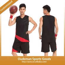 2015 New design 100% polyester basketball Jersey M size to 4X basketball uniform YN-A012