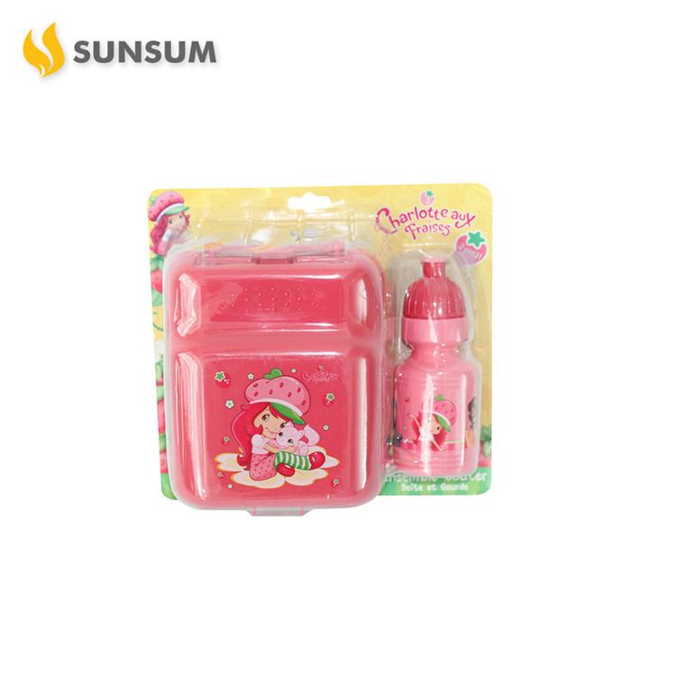 Hot Preço de Fábrica Crianças de Plástico Descartável Caixa de Almoço Bento