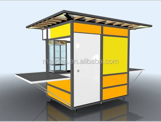 Free design OEM ODM available coffee shop kiosk designs, prefab coffee ...