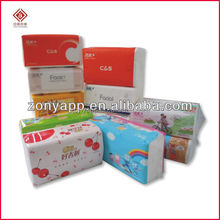 Customized plastic bag for hankerchief tissue, diaper, facial tissue, kitchen paper