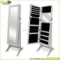 Bedroom furniture large mirror jewelry storage armoire