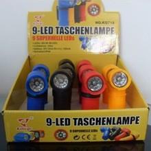 Bright WATERPROOF 9 LED Rubberized Taschen Flashlight TORCH LAMP LIGHT w/3 x AAA Batteries New