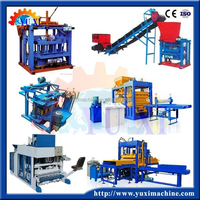 Top ten Machine manufacturer fly ash brushed stone cement brick block making machine price