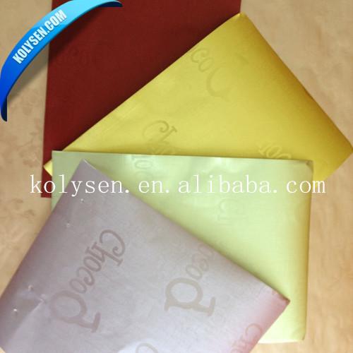 Chocolat en aluminium feuille stratifiée papier d'emballage
