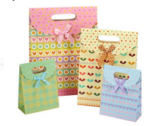 2015 fashion full color candy paper gift bag,gift package bag