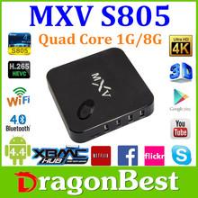 Alibaba Wholesale 2015 New Amlogic S805 Quad Core MXV TV Box Free Internet Streaming TV Box MX MXIII MXV HD 1080P Media Player