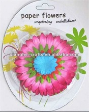 Scrapbook artificial paper flower for birthday decoration