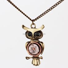 steampunk night owl collier antique pendentif bijoux steampunk