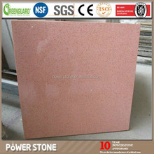 Pink Artificial Quartz Stone Big Slabs for Countertops