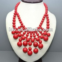 new briolette bib bubble necklace any color available
