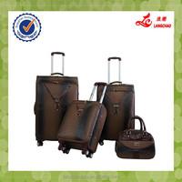 Alibaba China Travel Bag Cheap Cute 360-Degree Wheels Luggage PU Leather Rolling Luggage