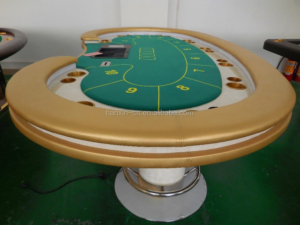 Luxury professional texas poker table with automatic card for 10 person poker table