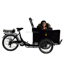 CE luxury adult cargo electric tricycle with passenger seat 2015