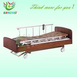 electric home care nursing medical wooden bed