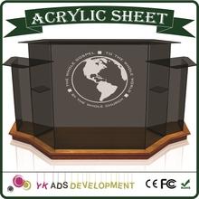 Luxury Display Goods Logo Screen Printing acrylic pulpit