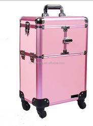 Alibaba China manufacturer makeup travel case aluminum jewellery train case RZ-SC-120