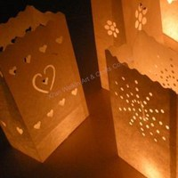 Party favor wedding luminaire candle bags wholesale