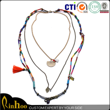 2015 New Arrival Latest Design Fashion Multilayer Jewelry Necklace