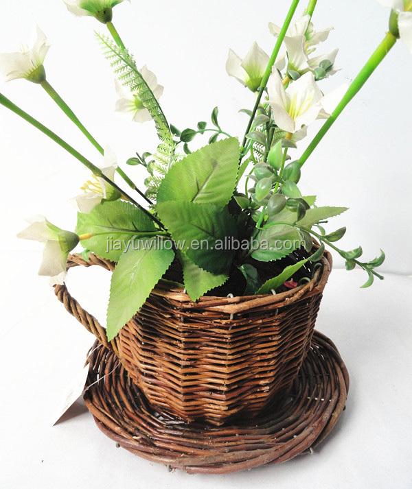Plante Panier Suspendu : Paniers en osier pour plantes d?coration int?rieure fleurs