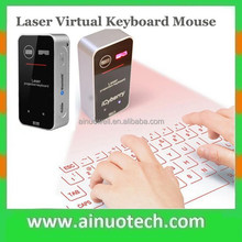 2015 hot sell whireless projection virtual keyboard mouse bluetooth laser keyboard for iphone and android phone