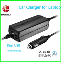 Universal 2 USB port Laptop DC car Power Adapter 19V 65W 90W for different brands Laptops Notebook Phone Pad