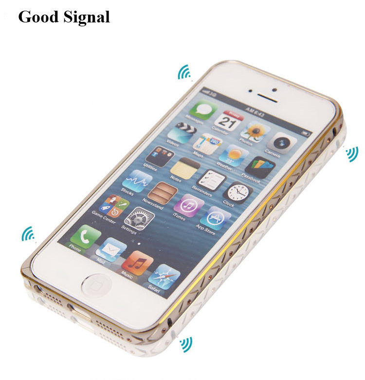New metal bumper case with diamond for iphone5s