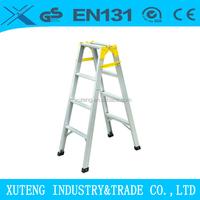 Aluminum double side ladder foldable easy store step ladder