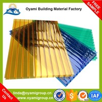 Free samples strong fire resistance saving energy bulletproof pc sheet for greenhouse skylight