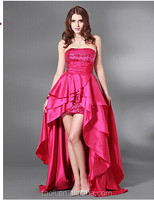 Alibaba Fashion Dress Taffeta Short Dresses on the Front and Back Long Sequins Red Cocktail Dresses