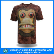 mens 2015 fashion shirts animal printed 3d t-shirt monkey