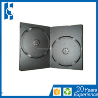 9mm black color dvd case with single or double tray