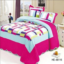 King size patchwork quilt & bedding set luxury wedding quilt set fashion bedding set