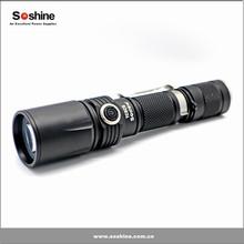 Soshine TC5CS LED 960lm 4-Mode White Control Tactical Flashlight - Black (1 x 18650)