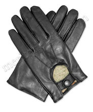 Men Sheep Leather Wool Lined Fashion Dressing Gloves