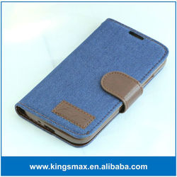 For iphone 6 leather flip wallet PU jeans Case leather pouch with Card Slots back stand for iPhone6 !