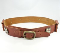 Fashion High Quality Genuine fancy brown decorative belts for ladies