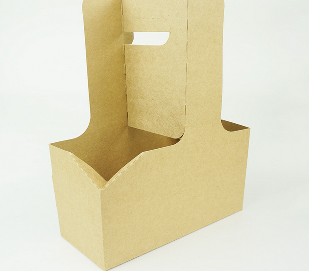 Take Away Disposable Corrugated Paper Coffee Cup Drink CarrierPaper