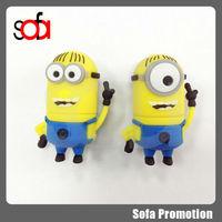 Cartoon Minions toy model 4GB 8GB 16GB 32GB USB 2.0 Memory Stick Flash Drive