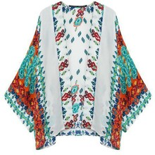 Women'S 2015 Japanese Traditional Clothes Designer Spring Autumn Casual Tops Floral Printing Loose Cardigans Kimono