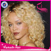 Wholesale factory price top fashion stock brazilian hair platinum blonde full lace wig