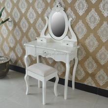 New Design Mirror European Style Black Lacquer Wood Dresser, Dressing Table