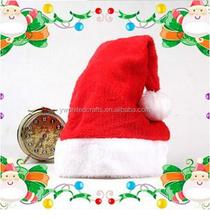 Plush/Non-woven Santa Hat High Quality Christmas Hat/Christmas Hat Promotions For Christmas Party Decoration