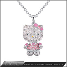 In stock lovers necklace pendant with small MOQ