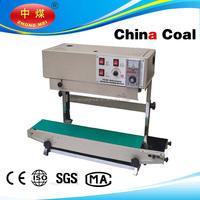 CHINACOAL 2015 continuous band sealer plastic bag sealing machine